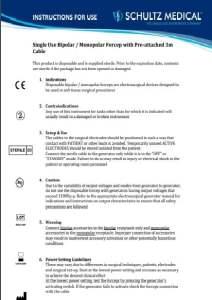 Инструкции по применению биполярных щипцов