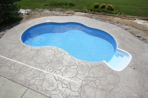 Arizona Flagstone stamped pool deck