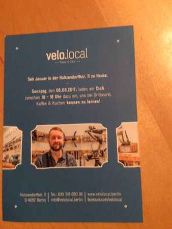 Velo.local Fahrradreparatur in Charlottenburg
