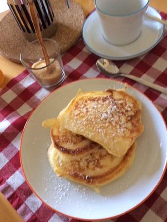 Pancake mit Buttermilch amerikanische Art