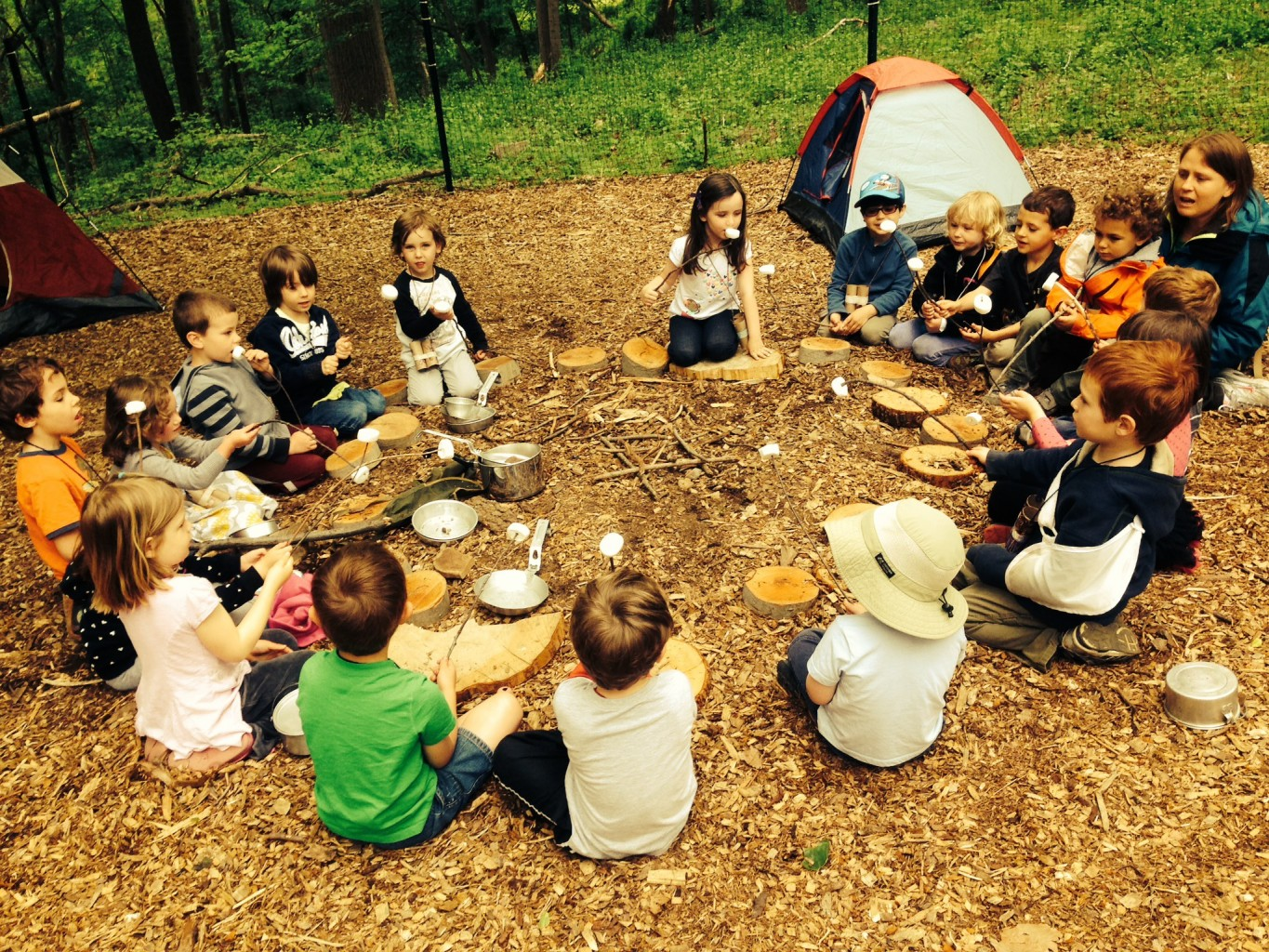 Nature Preschool Goes Camping