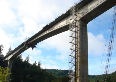 California's Eel River Bridge Employing SDI Post-Tensioning Materials & Installation Labor