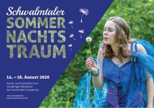 Veranstaltungsplakat zum Schwalmtaler Sommernachtstraum