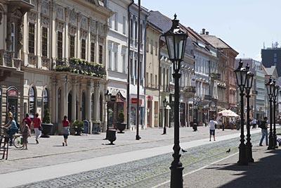 1,3 Kilometer lange Einkaufs- und Flaniermeile Hlavna Ulica (Hauptstrasse) in Kosice