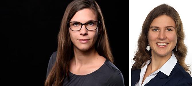 Julia Gronhoff (links) und Mira Fischer | beide Fotos © privat