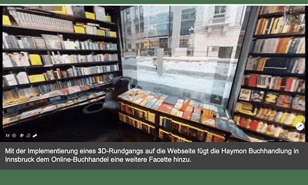 3D-Rundgang Haymon Buchhandlung