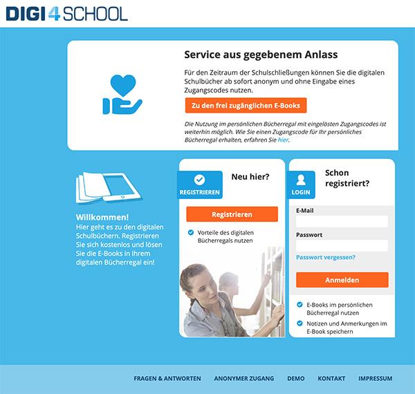 Screenshot digi4school.at