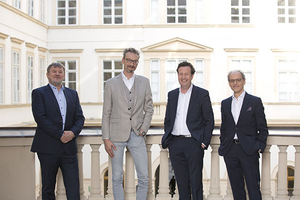 Das neu gewählte Präsidium: Franz Lintner, Helmut Zechner, Benedikt Föger, Alexander Potyka (v. l.n.r. ) | © Lisi Specht