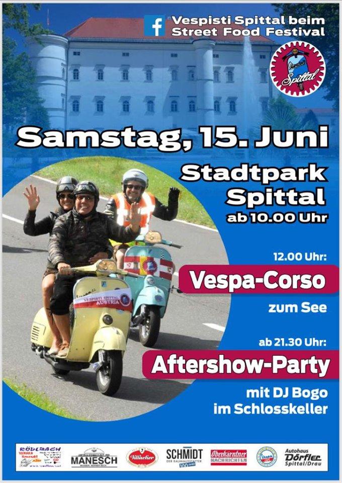 Streetfood Festival Spittal mit Vespa Corso