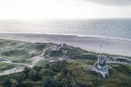 View from the lighthouse over Blåvand beach.
