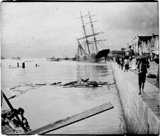 Image result for 1906 – A typhoon with tsunami kills an estimated 10,000 people in Hong Kong