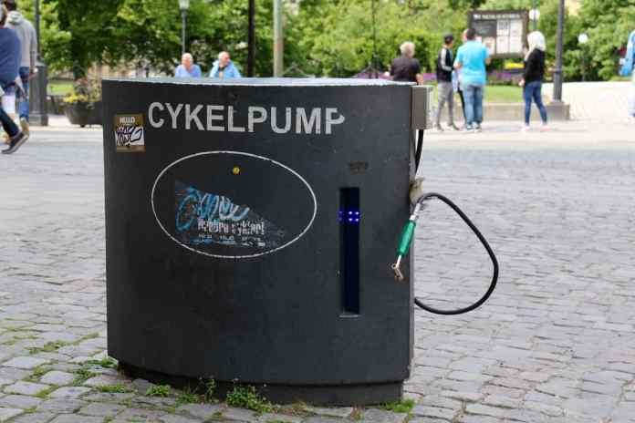 Örebro ist velofreundlich. Es gibt mehrere Pumpstationen. (Foto: Andrea Ullius)