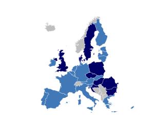 Die 19 Staaten der Eurozone (hellblau). Bild: www.ecb.europa.ch