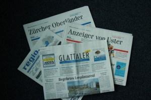 De Produktpalette der ZOM im 2014 wird seit Februar 2015 um den noch nicht abgebildeten Winterthurer Stadtanzeiger ergänzt. Quelle: ZO Medien