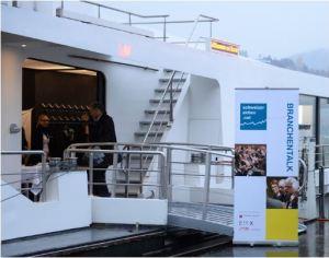 Der Branchentalk Tourismus 2016 fand an Bord des MS Cirrus statt. Bild: Sandra Blaser