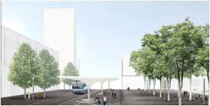 In Regensdorf soll auf dem ehemaligen Industriegebiet nördlich des Bahnhofs ein neues Quartier entstehen. Bild: Plazza AG