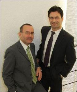Die Geschäftsleitung der Clientis Bank im Thal: Hans Peter Schrenk und Fabio Zaccardo (v.L.). Bild: zvg