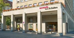 Die Acrevis Bank in Sta. Gallen wird im April ihr Kapital erhöhen. Bild: www.acrevis.ch