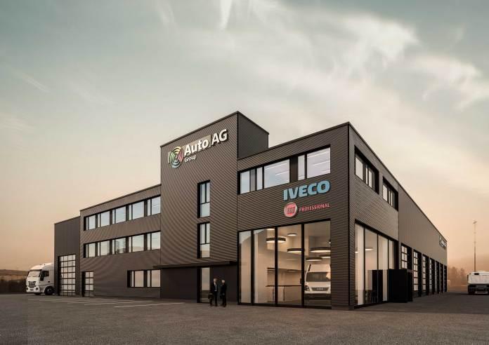 Anfang 2017 soll das neue Nutzfahrzeugcenter in Weinigen eröffnen. Abbildung: zvg