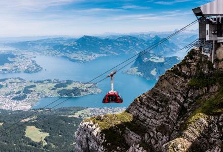 Die neue Luftseilbahn bietet den Gästen einen sehr guten Ausblick. Quelle: zvg