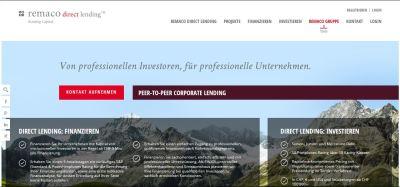 Die Remaco Direct Lending-Plattform.