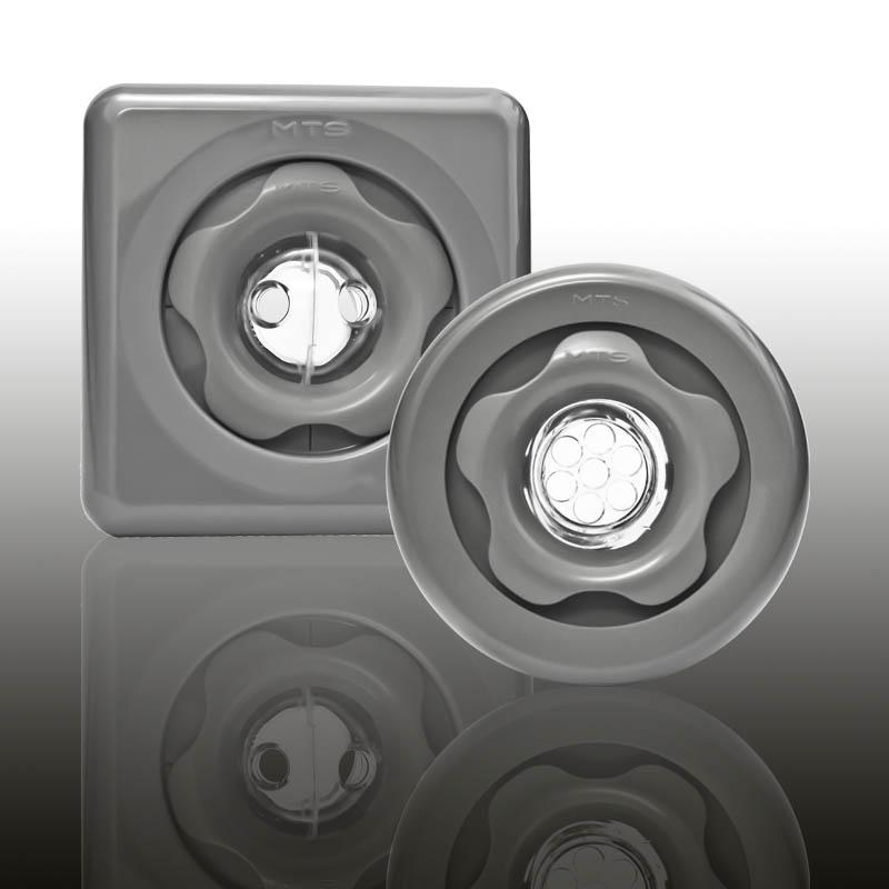 UNI SET Komplettset für Betonbecken mit Folienauskleidung ABS Edelgrau (Kurz) Image