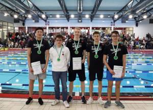 Platz 1 in 20:31,07. männliche A-Jugend: (von links nach rechts) Ningjuan Ma, Tim Hanke, Florian Redmann