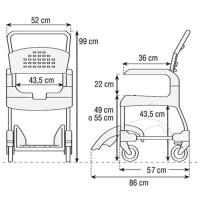 medidas de la silla de ducha AD828