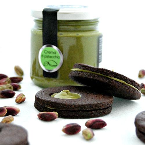 ricetta biscotti cacao e pistacchi sciara pistacchio bronte