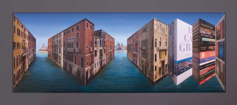 Patrick Hughes The Books of Venice