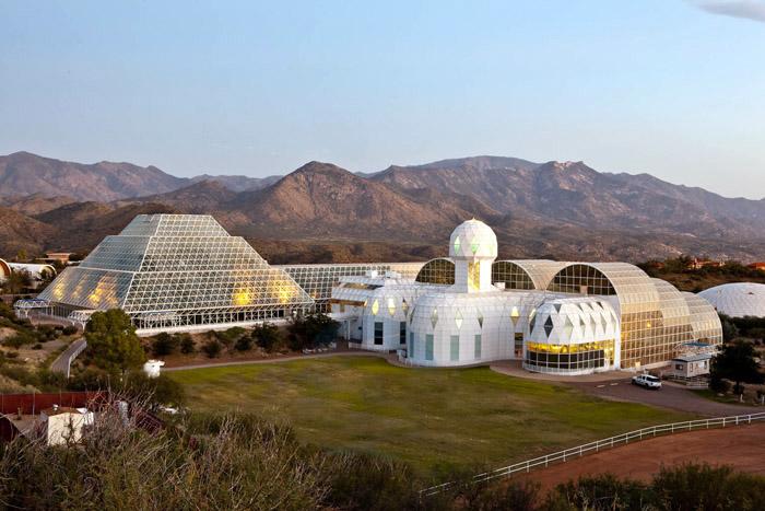 biosphere 2 sunset