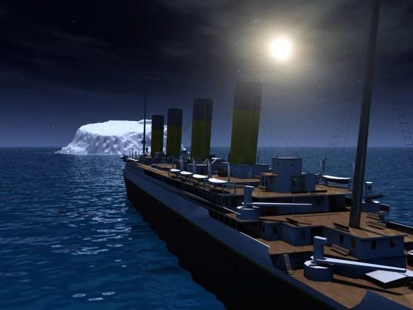 Titânico e iceberg