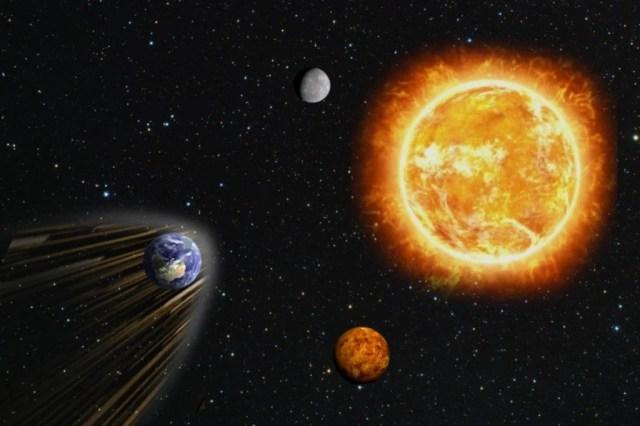 O que aconteceria se a Terra parasse girando ao redor do Sol?