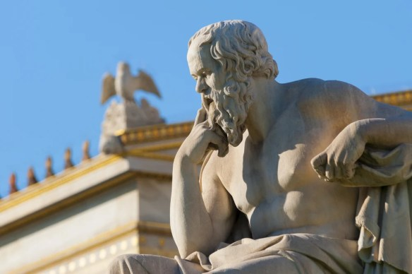 estátua clássica de Sócrates de lado - Imagem (vangelis aragiannis) s