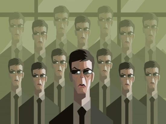homens em clones de terno - Vector (delcarmat) s
