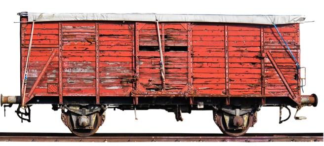 trem velho vagão