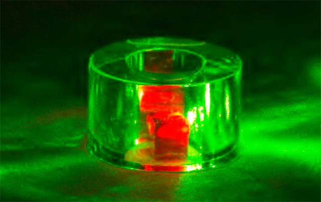 diamon with green lasers