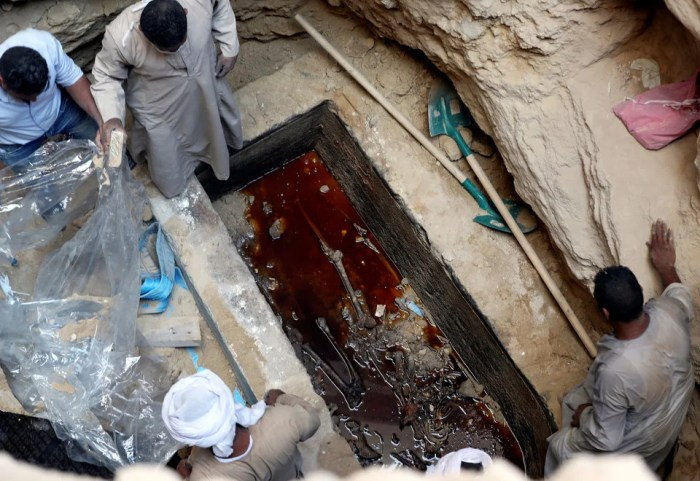 photos black sarcophagus july 5