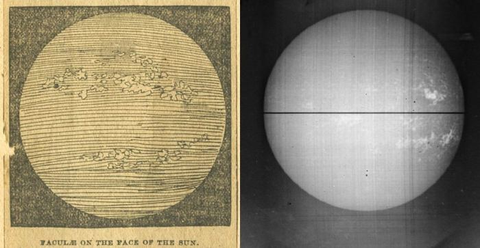 1892 faculae sketches from Hale Kenword Observatory (George Hale)