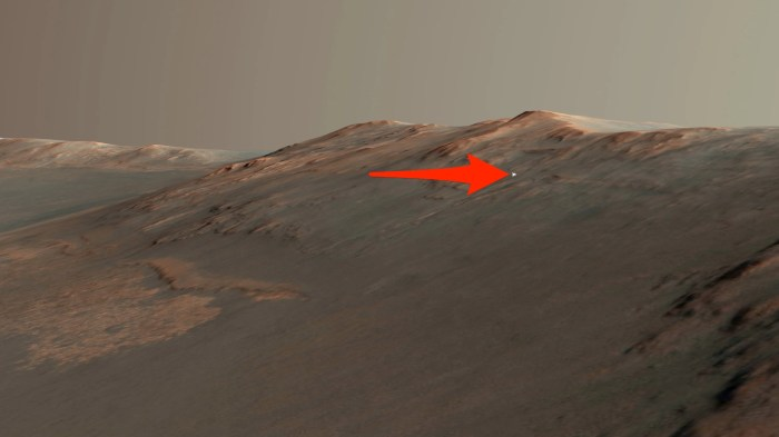 A 3D illustration of Opportunity in Perseverance Valley. (Seán Doran/Flickr/CC BY-NC-ND 2.0/Business Insider(