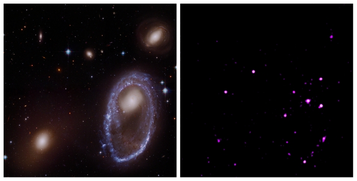 optical vs x ray ring galaxy
