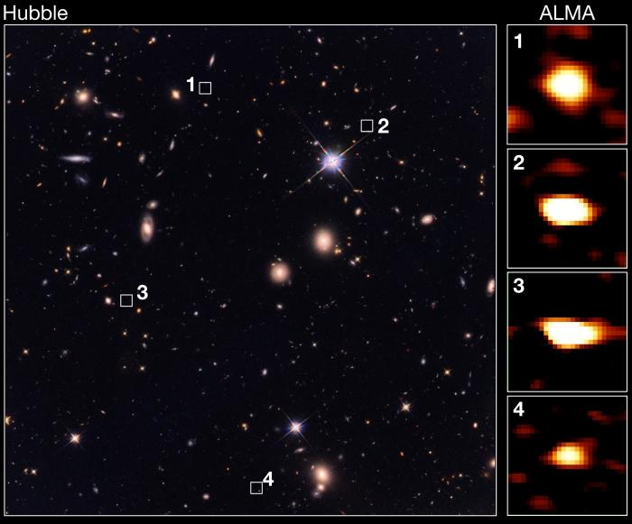 early galaxies comparisom