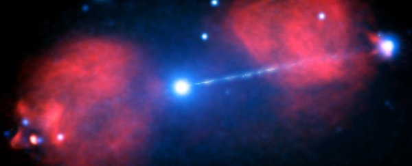This Supermassive Black Hole Emits a Beam of Particles ...