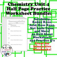 Solution Chemistry Worksheets
