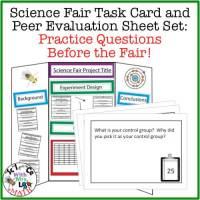 Science Fair Practice Task Cards
