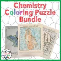 Chemistry Color By Number Puzzles