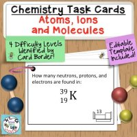 Atoms Ions Periodic Table Task Cards