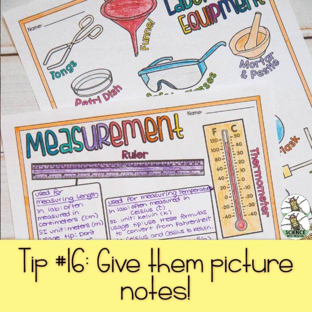 Give them picture notes!