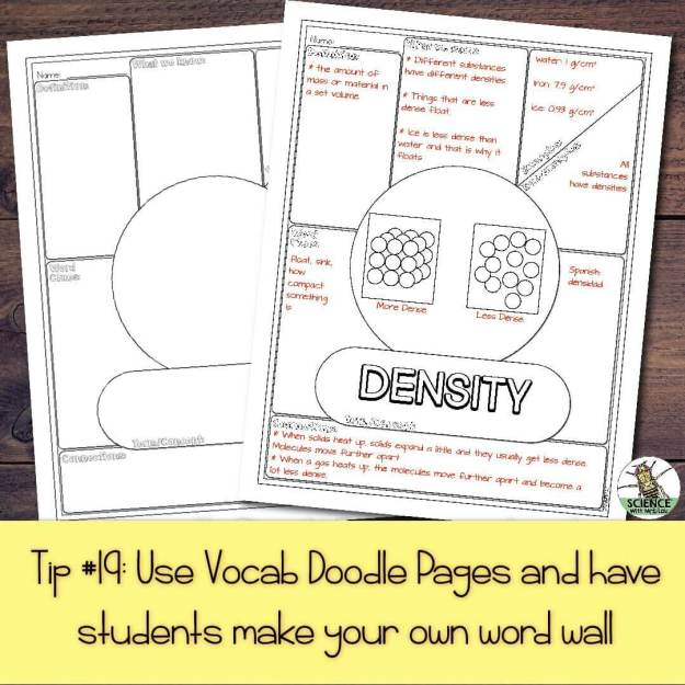 Use Vocab Doodle Pages and have students make their own word wall