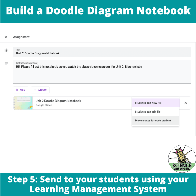 Send your students the resource on your learning management system